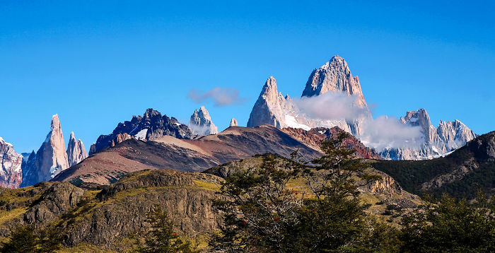 Fitzroy And Cerro Torre From Condors Nests