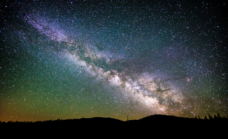 Milky Way On The Rise: Trinity County Ca