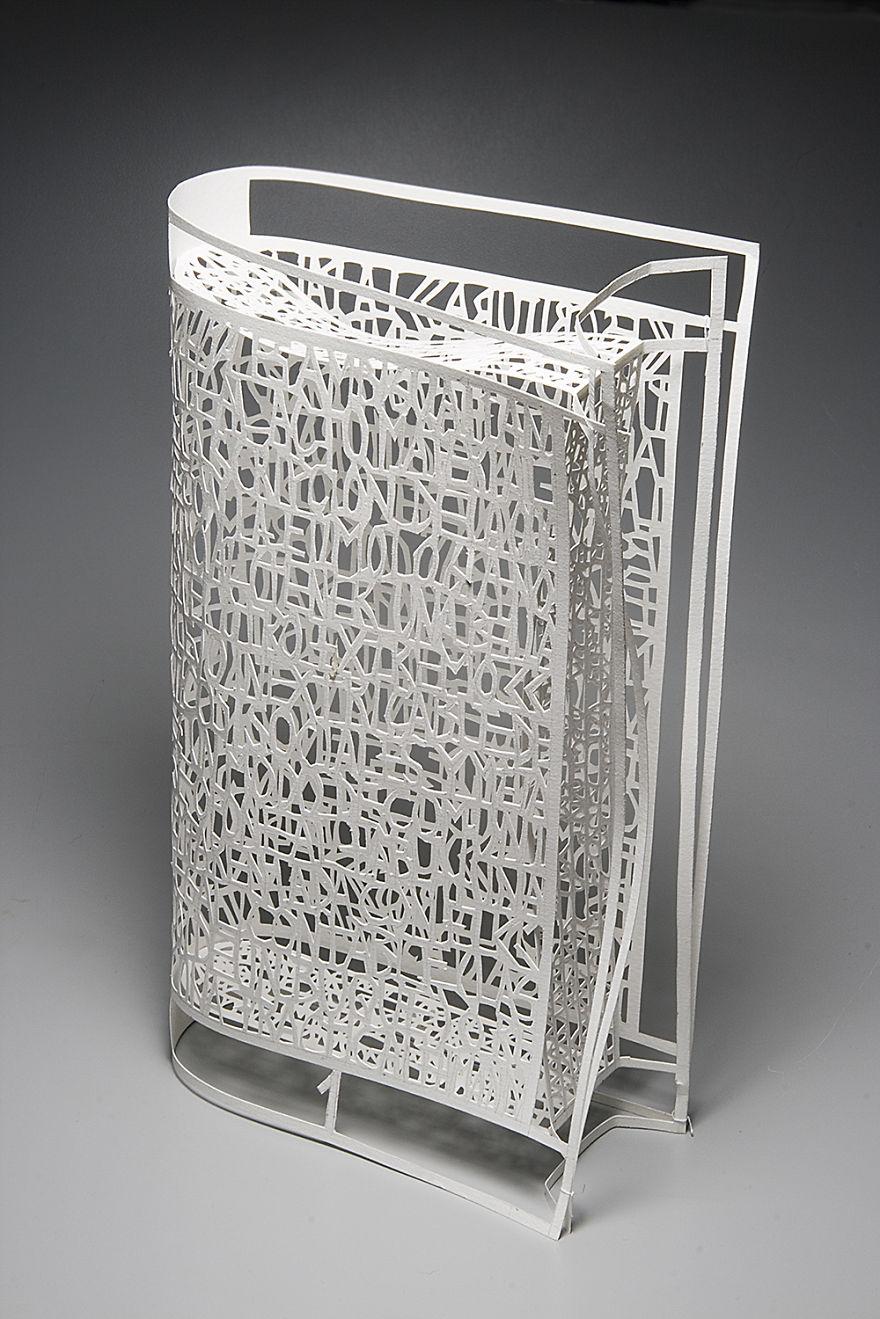 "Pablo Lehmann's ""Naked Book"" (26 X 15 X 6 cm) Cut-Out Paper 2007"