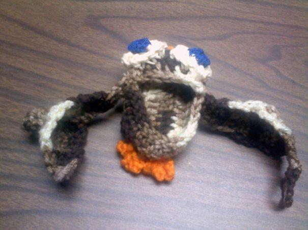 Owl Baby Bootie By Susie Kingman