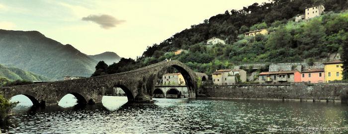 Ponte Della Maddalena (devil's Bridge) – Near The Town Of Borgo A Mozzano, Lucca Italy