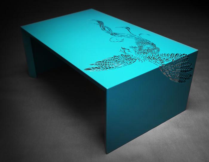 Paradise Table By Roi De Bruijn - See Through Coffee Table