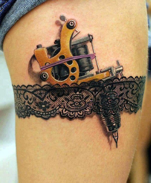 3d Leg Tattoo