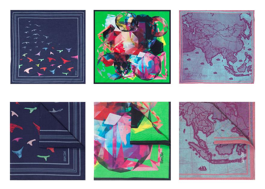 Singaporean Designer Creates Stunning Surrealistic Art On Scarves And Pocket Squares