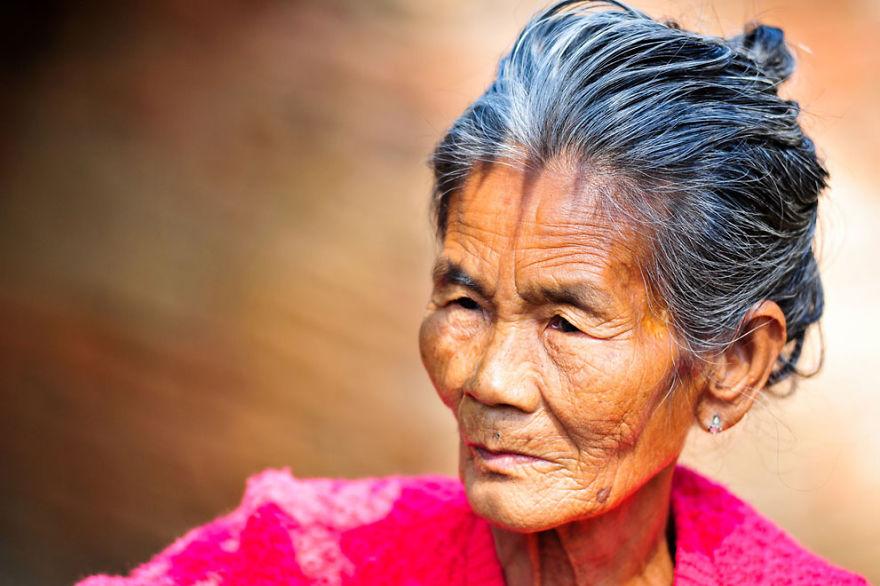 An Old Burmese Woman