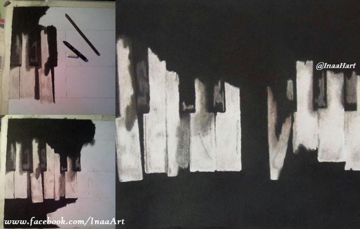 Realistic Piano Drawing