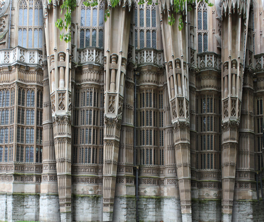 Westminster Facade Fantasy Architecture Constructions