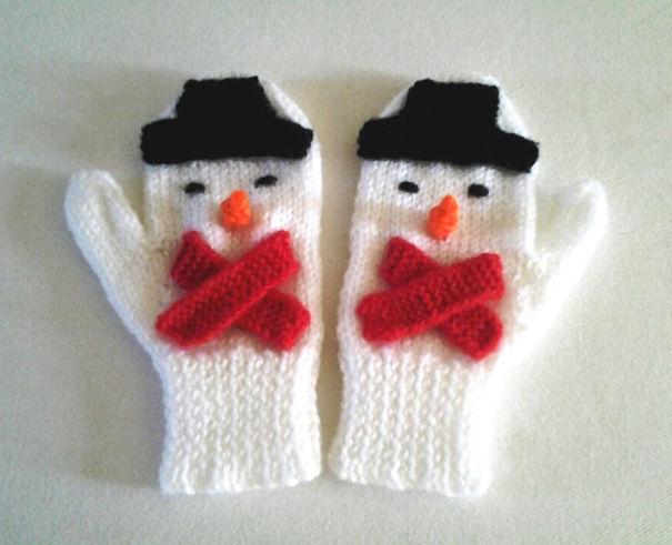 Snowman Mittens