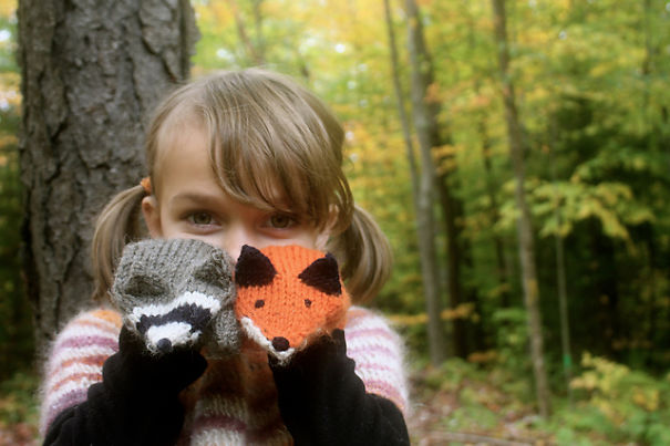 Forest Creatures Mittens