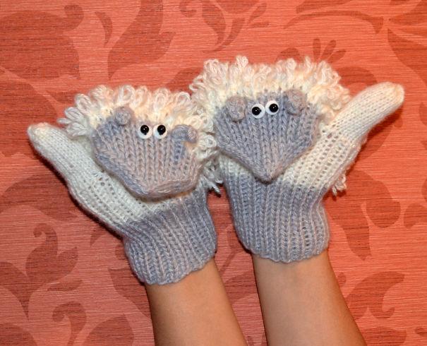 Sheep Mittens