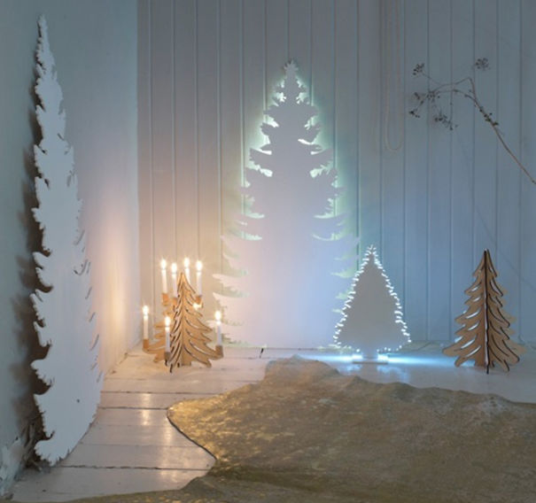 how to make a 3d christmas tree out of cardboard