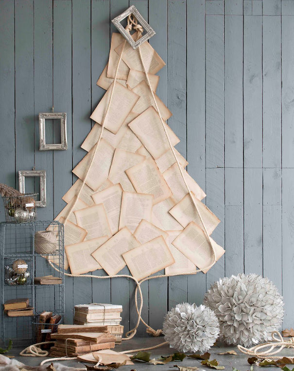 Old Paper Christmas Tree