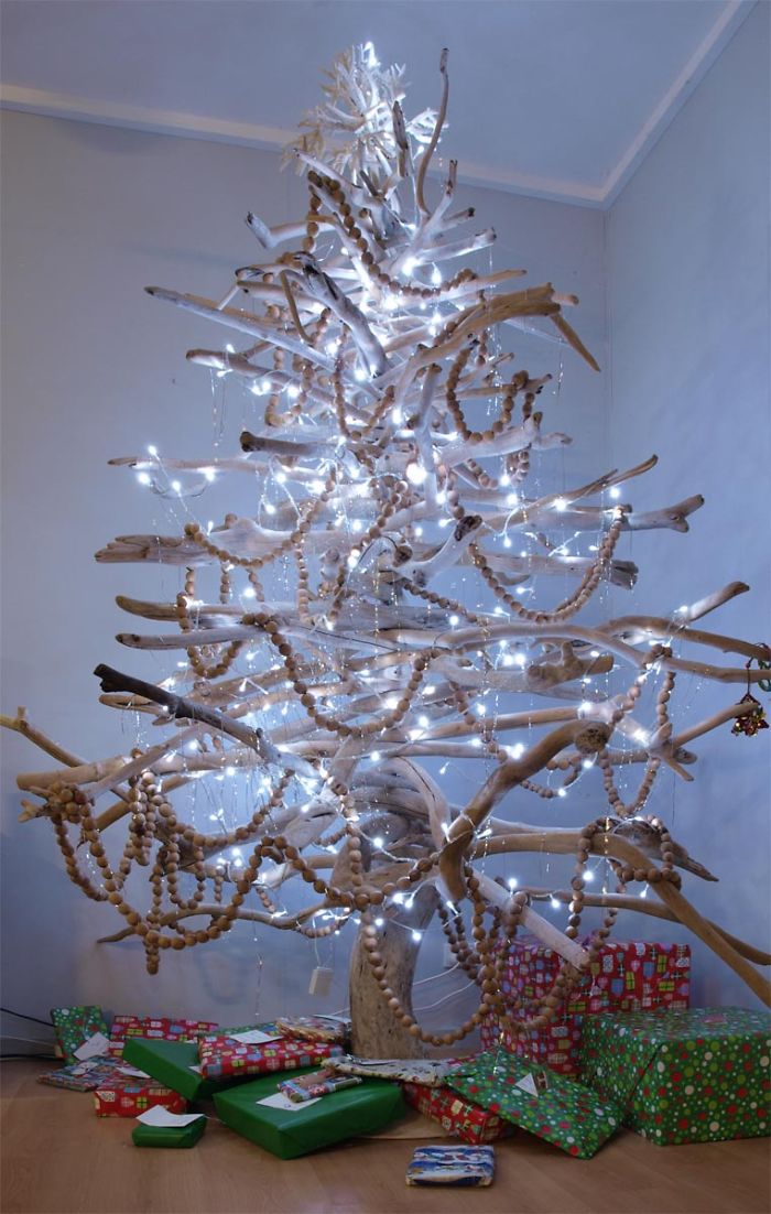 Christmas Tree Made From Branches
