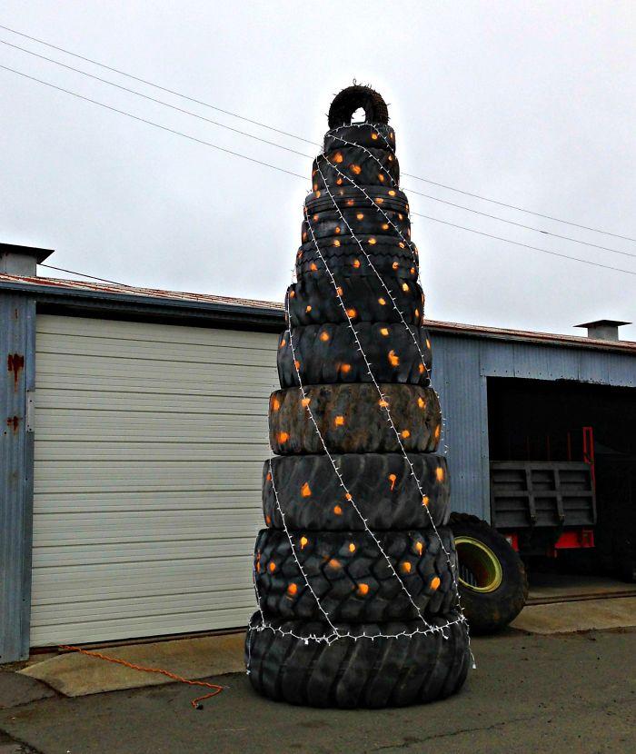 Truck Tires Xmas Tree
