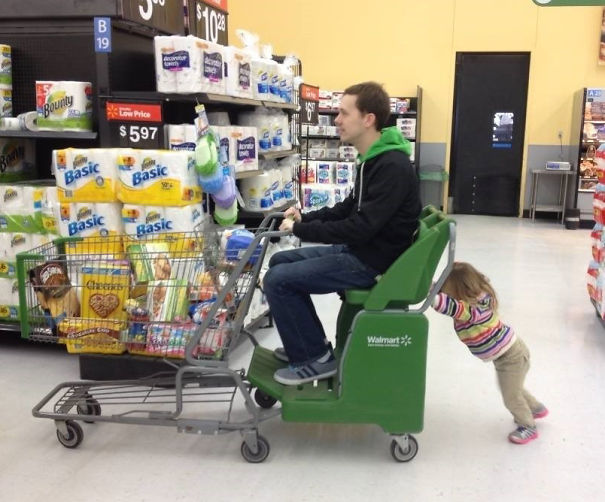 She Wanted To Push The Cart Once
