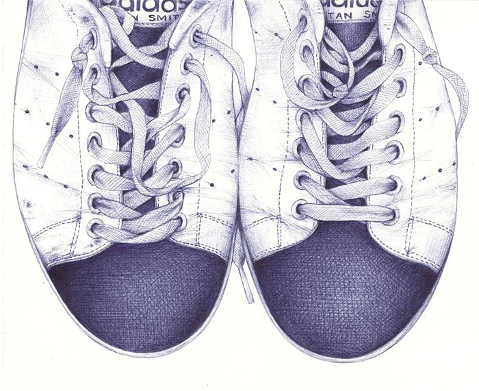 I Draw My Friends' Shoes With Ballpoint Pens