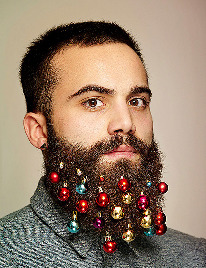 beard baubles christmas decoration 11 - Beard Design Ideas