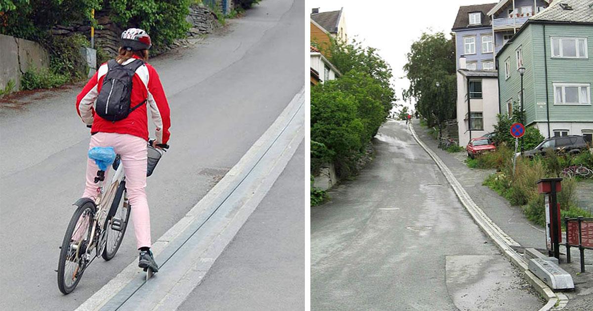 Norway Has World's First Bike Escalator