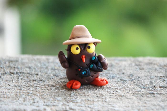 Birdwatcher Owl Figurine