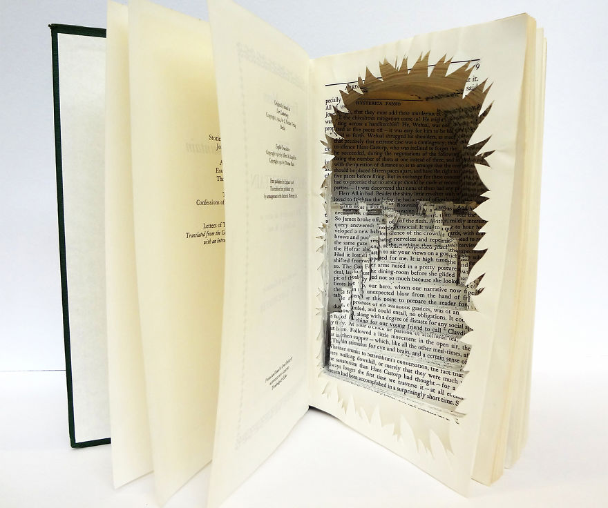 A Stairway To Heaven Book Sculpture
