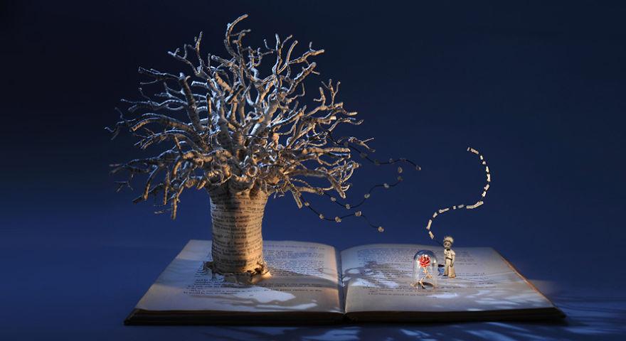 The Little Prince Book Sculpture