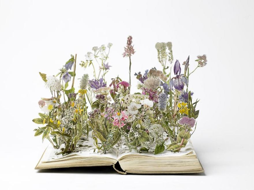 Herb Garden Book Sculpture