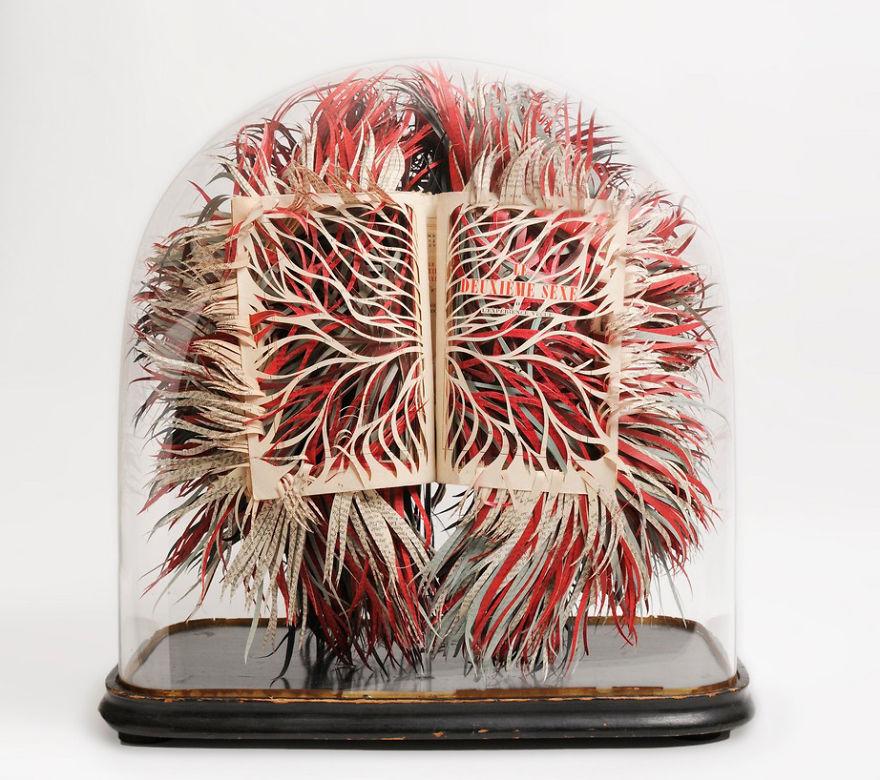 Slashed Book Scupture