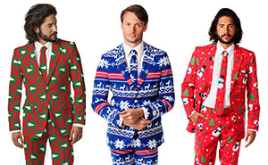 Ugly Christmas Sweaters Turned Into Stylish Suits