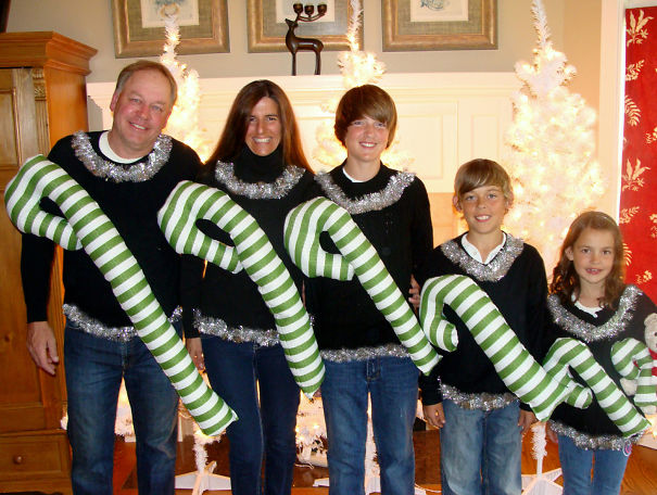 Family Ugly Christmas Sweaters Bored Panda