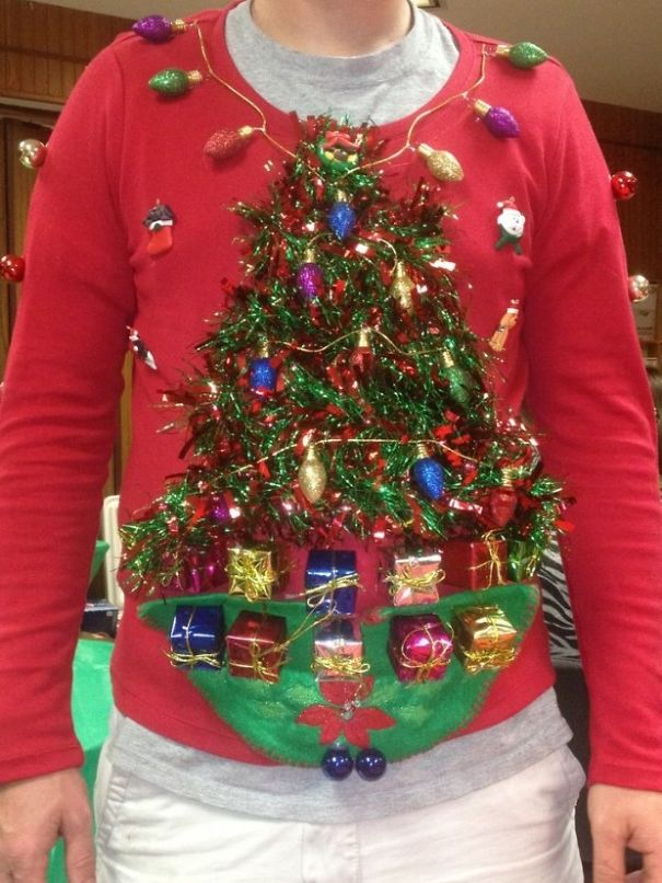 13 of the most creative ugly christmas sweaters bored panda 11 the diy ugly christmas sweater solutioingenieria Gallery