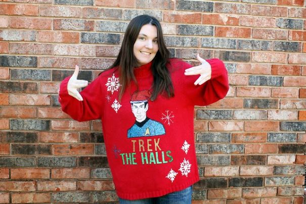 A Trekky Christmas Sweater