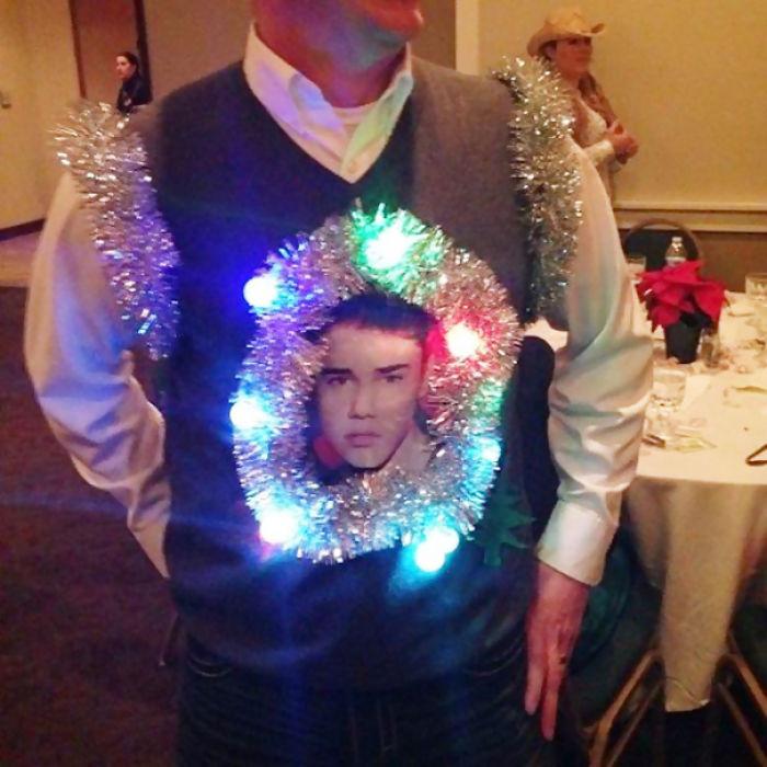 Ugly Justin Bieber Christmas Vest   Bored Panda