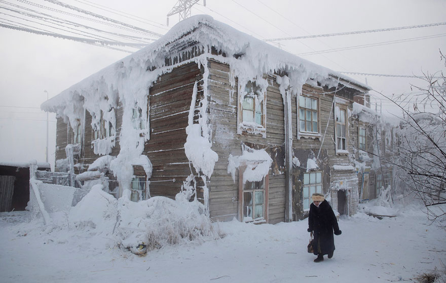 [10 Photos] The Coldest Village, Where The Temperature Can Reach -71.2C (-96F)