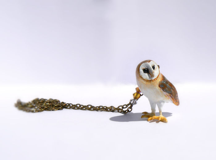 Owl Necklace By Wildyfraise On Etsy
