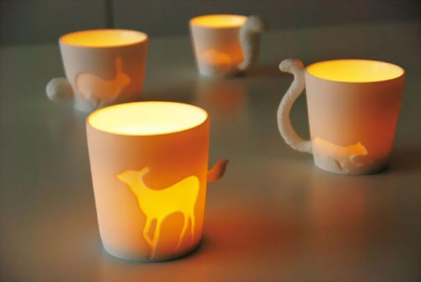 Forest Animals Candle Holders