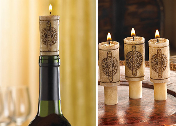 Bottle Cork Candle