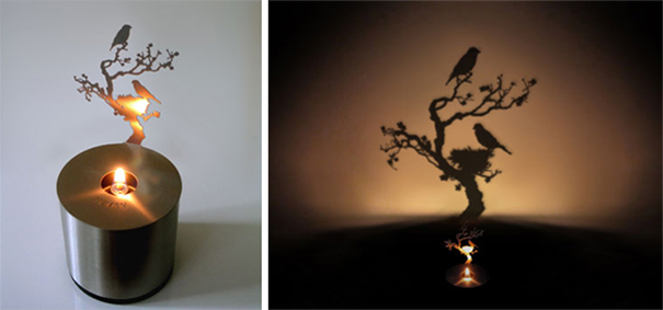 Shadow Art Candle