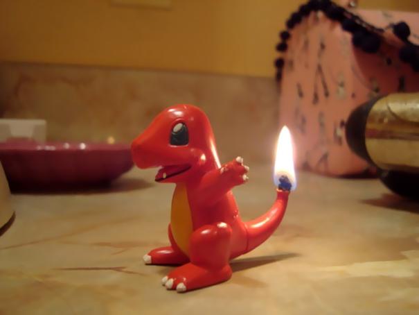 Charmander Candle