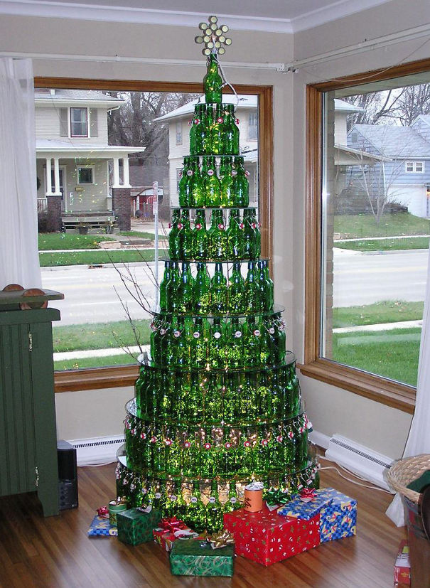 Last Year's Beer = This Year's Christmas Tree