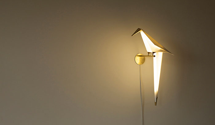 Geometric Parrot Lamp