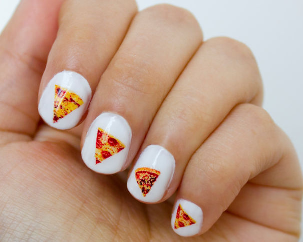 Pizza Nail Decals