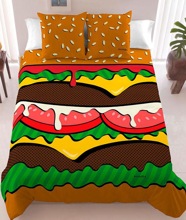 Hamburger Bed Sheets Bored Panda