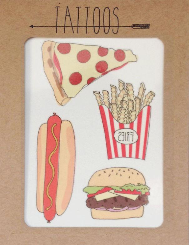 Food Temporary Tattoos