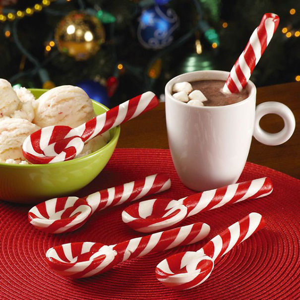 Pepermint Candy Cane Spoon