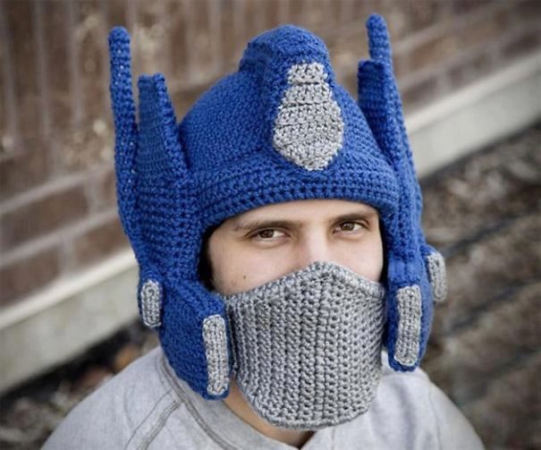 Optimus Prime Crochet Hat