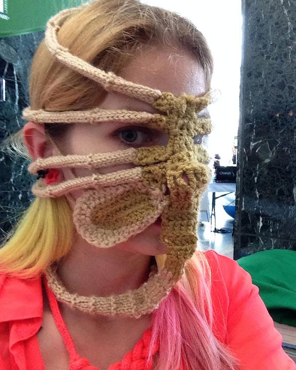 Xenomorph Alien Face Hugger Ski Mask