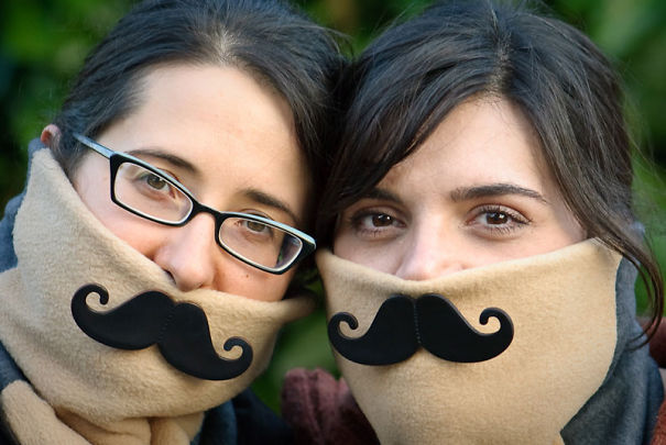 Mustache Shawl
