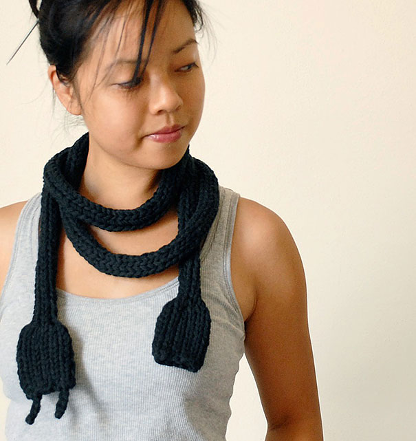 Knitted Power Cord Scarf