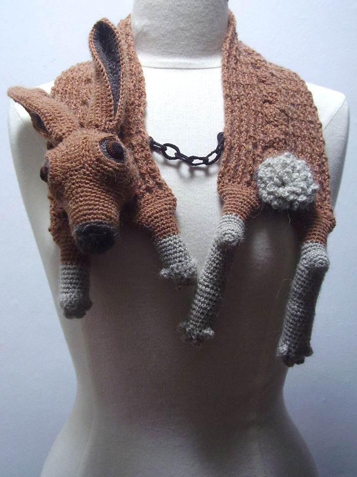 Crocheted Hare Stole