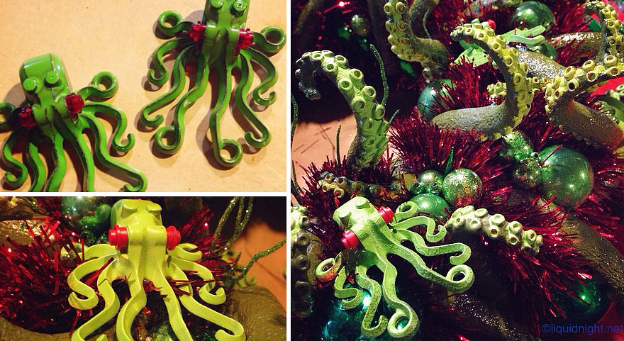 I Just Completed My Cthulhu-Themed Christmas Wreath. So ...